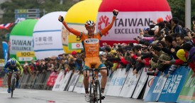 Anthony Giacoppo wins the opening stage of the Tour of Taiwan.