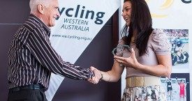Melissa Hoskins wins WA female cycling international Sports star of the year