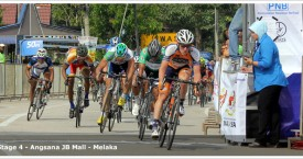 Anthony Giacoppo wins the 4th stage of the Jelajah Malaysia