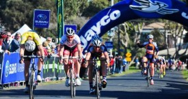 Anthony Giacoppo wins stage 1 of the Tour of Gippsland